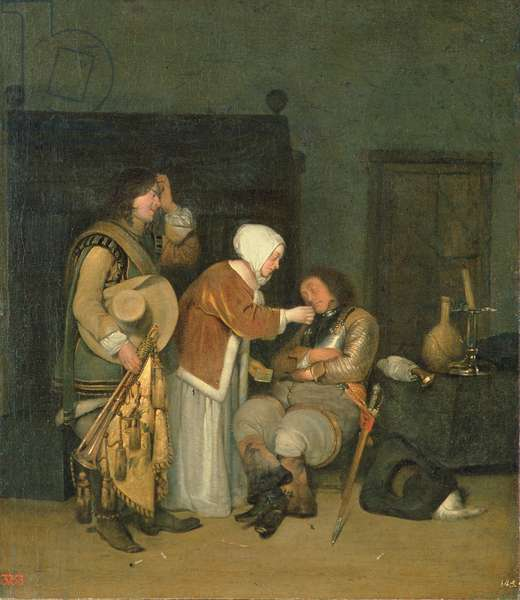 Letter to a Sleeping Soldier (oil on canvas)