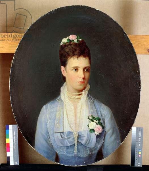 Portrait of the Russian Empress Maria Fyodorovna (1847-1928)
