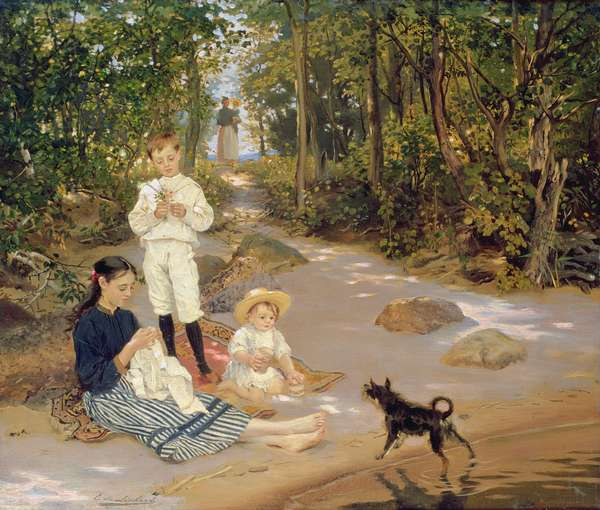 Artist's Family, 1880s (oil on canvas)