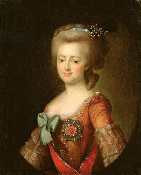 Portrait of Grand Duchess Maria Fyodorovna (1759-1828) c.1780-90 (oil on canvas)