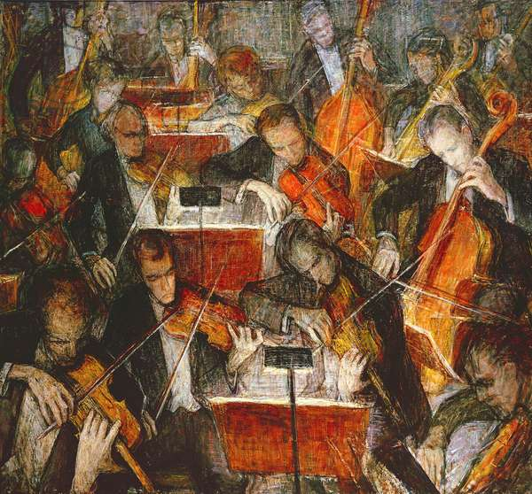 The Orchestra, 1962 (oil on canvas)