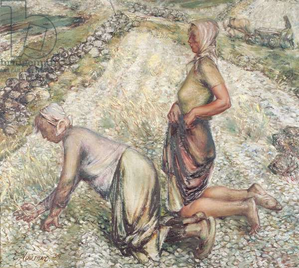 Harvesters, 1939 (oil on canvas)