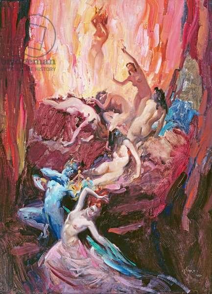 Dante's Inferno, (oil on canvas)
