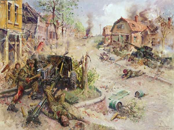Lance Sergeant J. D Baskeyfield VC, (acrylic on canvas)