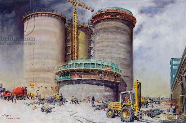 Mowlem- construction at West Thurrock Terminal for Castle Cement, 1990