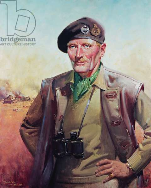 Field Marshal Viscount Montgomery, (oil on canvas)