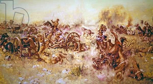 Ambush at Sannas Post, (acrylic on canvas)