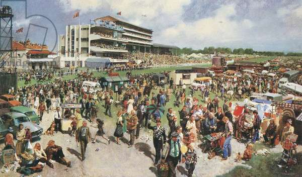 Derby Day, 1979 (colour litho)