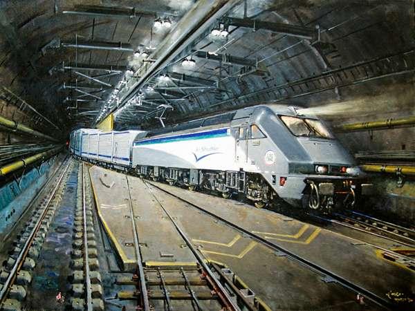 Le Shuttle, (oil on canvas)