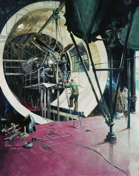 The Wind Tunnel , 1944 (oil on canvas)