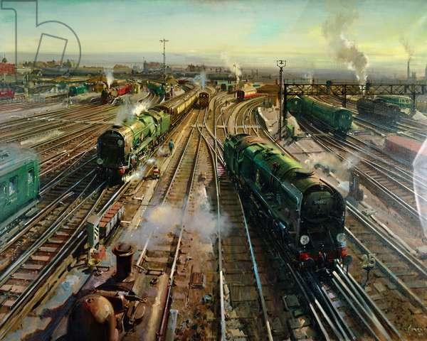 Clapham Junction, (acrylic on canvas)