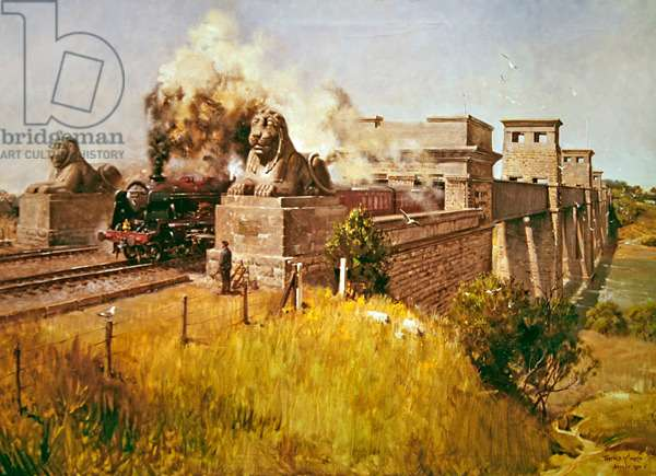 Britannia Bridge, 1970 (acrylic on canvas)