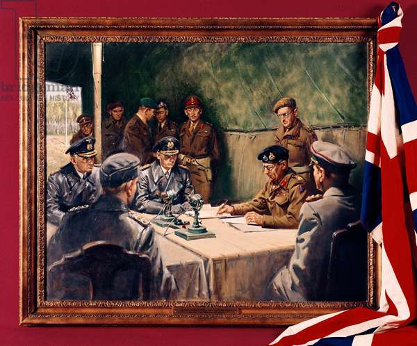 The German Surrender, (oil on canvas)