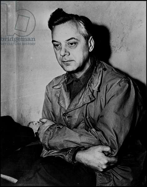 Second World War (1939-1945) - World War II (WWII or WW2): Nuremberg (Germany) 24 November 1945: In his cell, Alfred Rosenberg (1893-1946), one of the Nazi officials indicted before the International Tribunal (IMT)