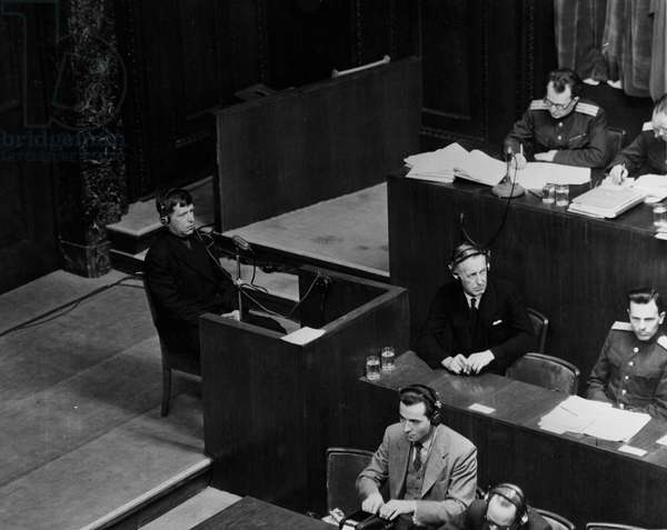 Second World War (1939-1945) - Nuremberg trial February 1946: At a hearing of the International Tribunal (IMT) which judges the main Nazi officials, Jacob Grigorjov, who since July 1941 lived in the areas of the Sovietic union occupied by the Third Reich, testimonies. His wife and two children were murdered by the Nazis