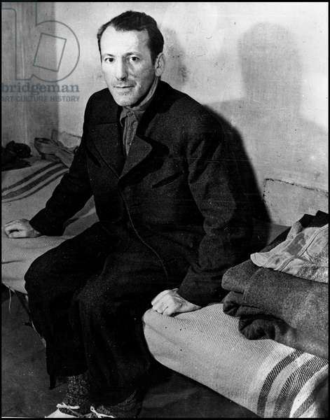 Second World War (1939-1945) - World War II (WWII or WW2): Nuremberg (Germany) 24 November 1945: In his cell, Ernst Kaltenbrunner (1903-1946), one of the Nazi officials indicted before the International Tribunal (IMT)