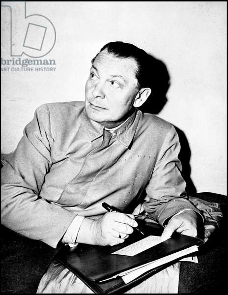 Second World War (1939-1945): Nuremberg trial, 24 November 1945. Hermann Goering (Goring) in his prison cell. Photography.
