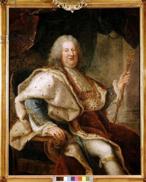 Portrait of Stanislas Leszczynski, King of Poland (1677-1766). Painting by Paul Nattier, 18th century. Chateau de Carrouges.
