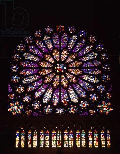 Rosette of the Cathedrale de Saint-Denis (93).