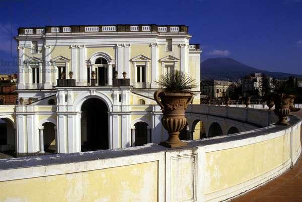 View of Villa Campioleto in Ercolano, near Naples Italy.