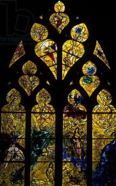 Stained glass windows by Gaston Duchamp, dit Jacques Villon (1875-1963).