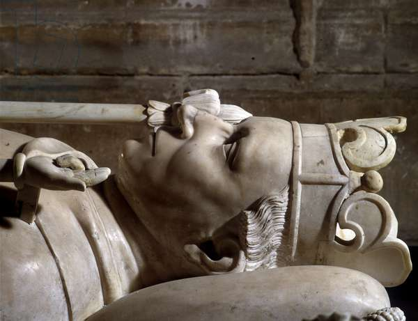 Tomb of Charles VI (1368 - 1422). Basilica of St. Denis.