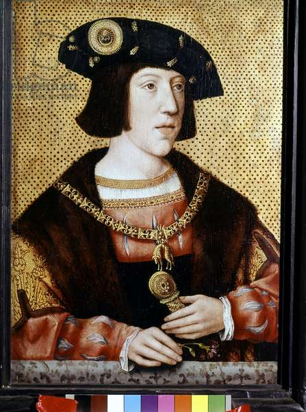 Portrait of Charles V (1500 - 1558), Emperor of Germany. Flemish school of the 16th century. Cathedrale Saint-Sauveur. Bruges