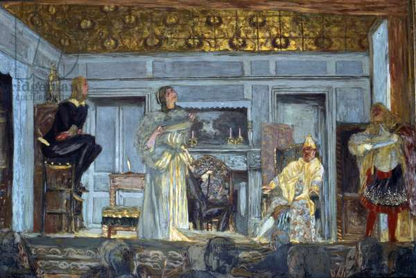 Decors of the imaginary sick by Moliere, 1912 - Theatre des Champs Elysees, Paris