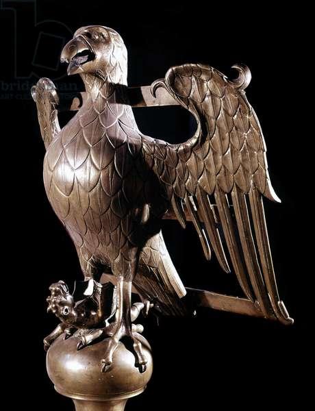 Lutrin decorated with an eagle. Church of St. Leonardo de Léau, anonymous author, 1468.