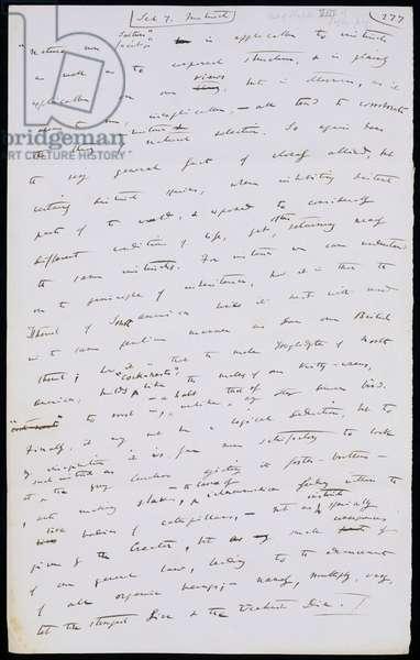 Fragment of 'On the Origin of Species', c.1856-59 (pen & ink on paper)