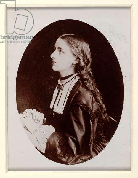 Portrait of Agnes 'Anaesthesia' Carstares (b/w photo)