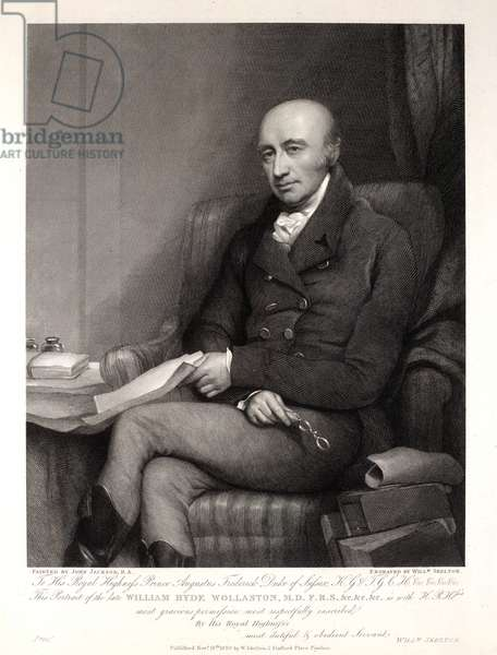 William Hyde Wollaston, engraved by William Skelton, 1819 (engraving)