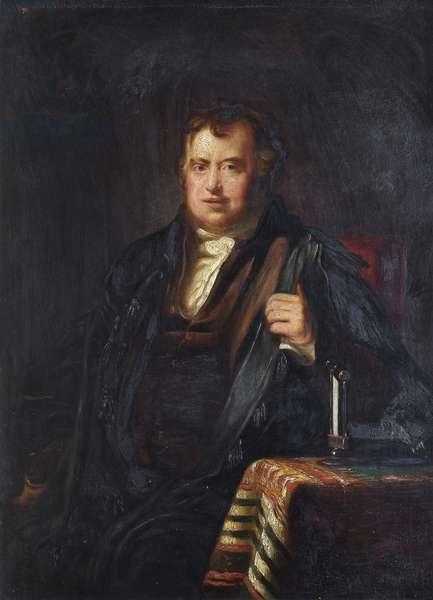 Sir John Leslie (oil on board)