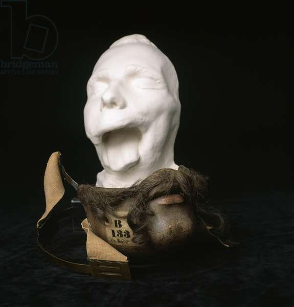 Mask made to disguise facial injuries, 1832 (silver)