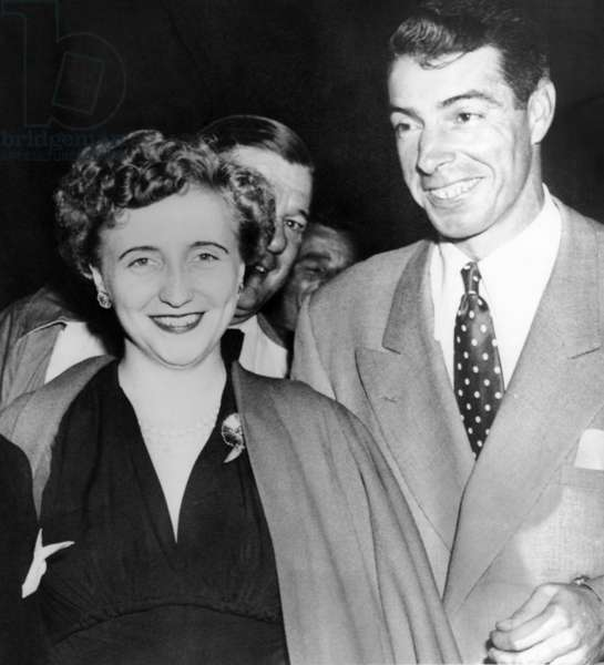 Margaret Truman and Joe DiMaggio at the fights, Aug. 9, 1950