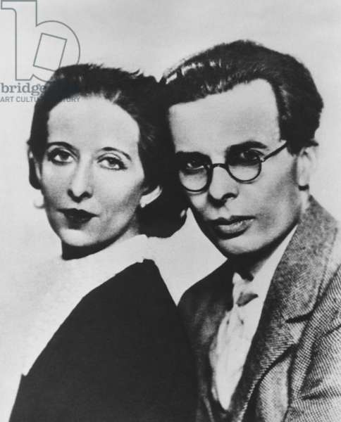 Aldous Huxley (1894-1963) and his first wife Maria Nys Huxley (1899-1955), c. 1930.