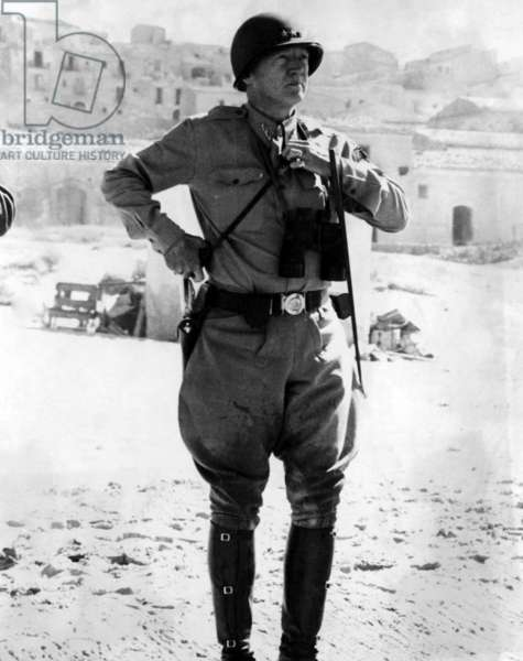 Lt. General George Patton, Sicily, 1943