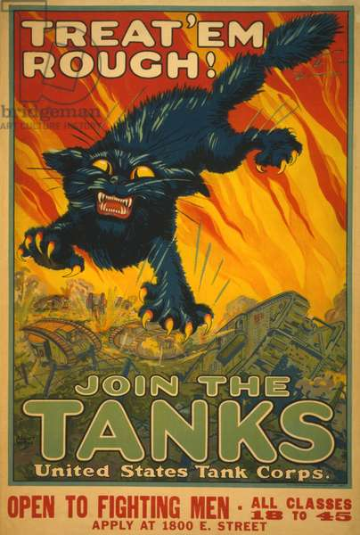 Treat 'Em Rough - Join the Tanks, 1917 (poster)