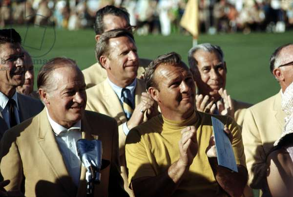 Ronald Reagan, Bob Hope, Arnold Palmer at a golfing event
