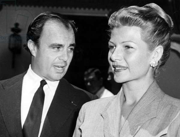 PRINCE ALY KHAN with spouse RITA HAYWORTH, 1952