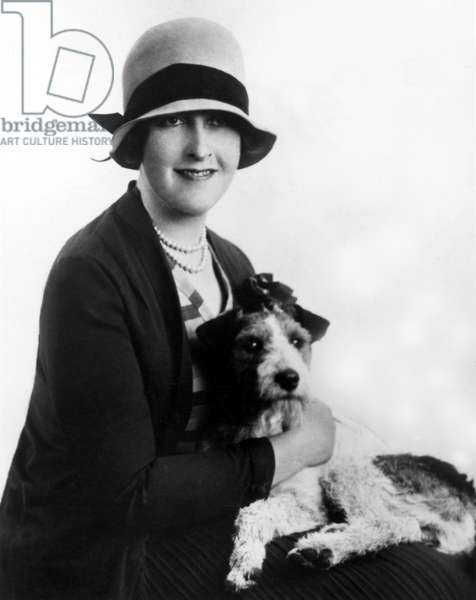 Agatha Christie (1890-1976) British mystery writer in the early 1920s. Photo by Pauline Portraits, Ltd