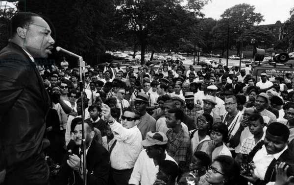 Dr. Martin Luther King Jr., Speaking in Rockefeller Park, circ. 1964