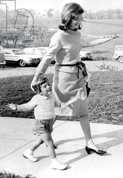 Jacqueline Kennedy, John F. Kennedy Jr., 10/27/63