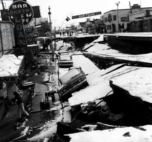 Damage from an earthquake. Anchorage, Alaska. March 27, 1964