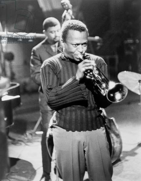Miles Davis, in a publicity still for 'The Sound of Miles Davis,' an episode of The Robert Herridge Theatre, aired on CBS on July 21, 1960