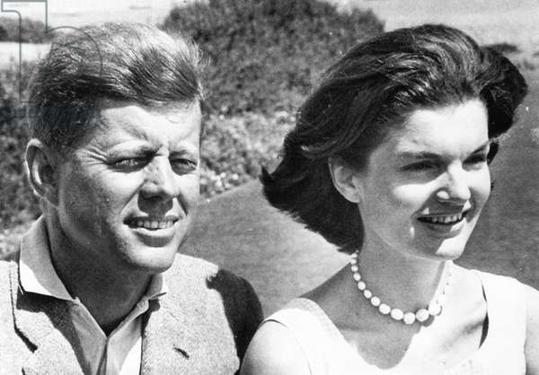 John Kennedy and Jacqueline Kennedy at Cape Cod, 8/28/60