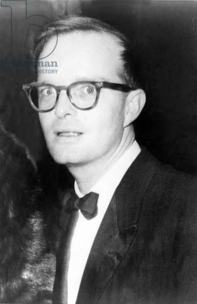 Truman Capote, (1924-1984), southern American writer best known for his novels BREAKFAST AT TIFFANY'S, and IN COLD BLOOD. 1960