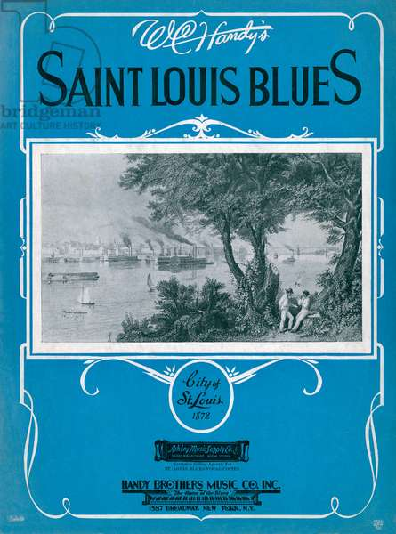 The Saint Louis Blues, sheet music for song by W.C. Handy, c.1920s