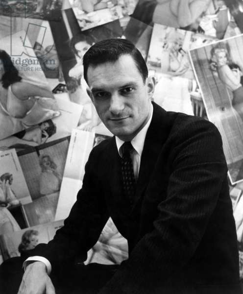 Hugh Hefner, editor-publisher of Playboy Magazine, ca 1950s.