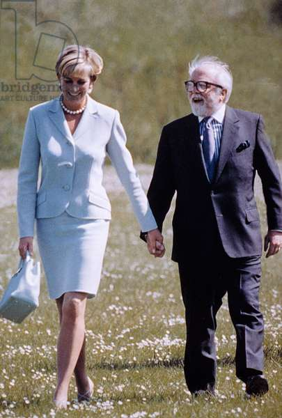 PRINCESS/LADY DIANA SPENCER, with Lord Richard Attenborough, date unknown